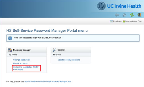 UCI Health Information Services - HS Password Manager