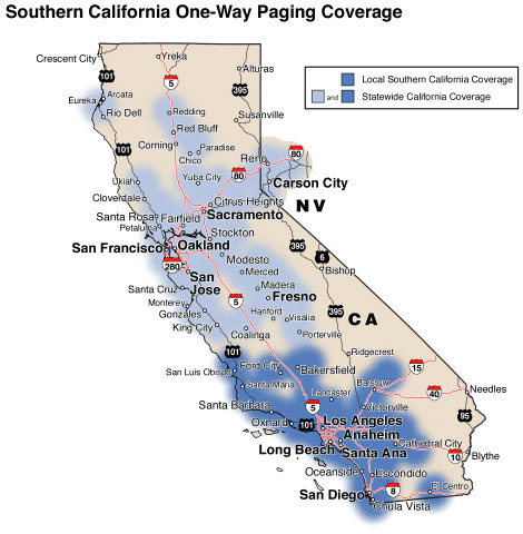 Paging Coverage Map